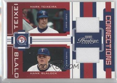 2005 Playoff Prestige - Connections - Jerseys [Memorabilia] #C-21 - Mark Teixeira, Hank Blalock /100
