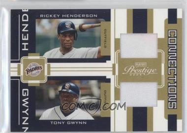 2005 Playoff Prestige - Connections - Jerseys [Memorabilia] #C-23 - Rickey Henderson, Tony Gwynn /250