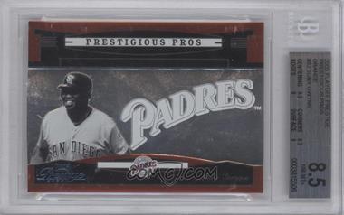 2005 Playoff Prestige - Prestigious Pros - Orange #PP-82 - Tony Gwynn /500 [BGS8.5]