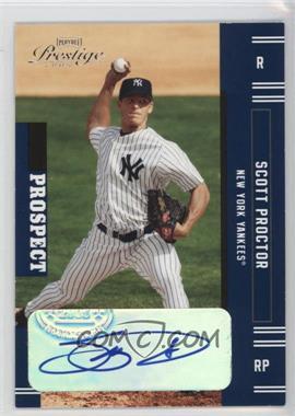 2005 Playoff Prestige Autographs [Autographed] #164 - Scott Proctor