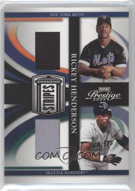 2005 Playoff Prestige Changing Stripes Jerseys [Memorabilia] #C-21 - Rickey Henderson /250