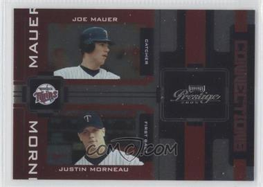 2005 Playoff Prestige Connections Foil #C-18 - Justin Morneau, Joe Mauer /100