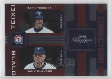 2005 Playoff Prestige Connections Foil #C-21 - Mark Teixeira, Hank Blalock /100