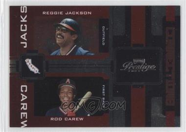 2005 Playoff Prestige Connections Foil #C-22 - Reggie Jackson, Rod Carew /100