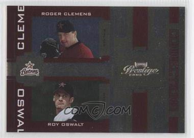 2005 Playoff Prestige Connections Foil #C-6 - Roger Clemens, Roy Oswalt /100