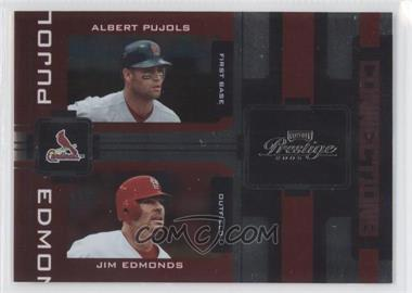 2005 Playoff Prestige Connections Foil #C-8 - Albert Pujols, Jim Edmonds /100