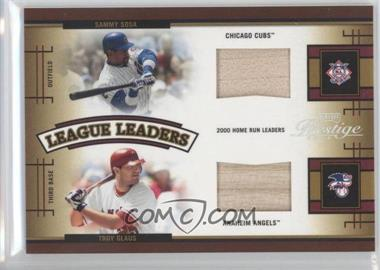 2005 Playoff Prestige League Leaders Double Bats [Memorabilia] #LLD-5 - Sammy Sosa, Troy Glaus /250