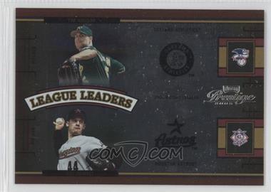 2005 Playoff Prestige League Leaders Double Foil #LLD-1 - Tim Hudson, Roy Oswalt /100