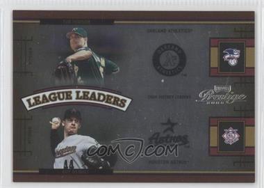 2005 Playoff Prestige League Leaders Double Foil #LLQ-1 - Tim Hudson, Roy Oswalt /100