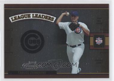 2005 Playoff Prestige League Leaders Single Foil #LLS-9 - Carlos Zambrano /100