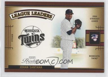 2005 Playoff Prestige League Leaders Single #LLS-6 - Johan Santana