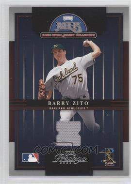 2005 Playoff Prestige MLB Game-Worn Jersey Collection #4 - Barry Zito