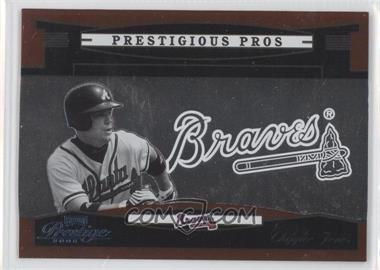 2005 Playoff Prestige Prestigious Pros Orange #PP-80 - Chipper Jones /500