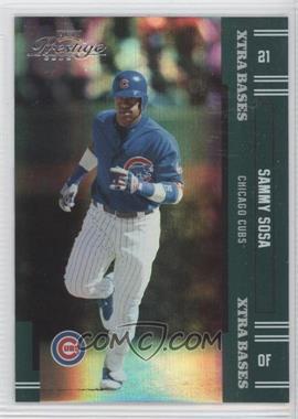 2005 Playoff Prestige Xtra Bases Green #121 - Sammy Sosa /50
