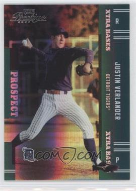 2005 Playoff Prestige Xtra Bases Green #151 - Justin Verlander /50