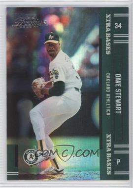 2005 Playoff Prestige Xtra Bases Green #188 - Dave Stewart /50