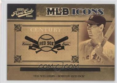 2005 Playoff Prime Cuts - MLB Icons - Century Gold #MLB-40 - Ted Williams /25