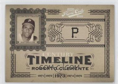2005 Playoff Prime Cuts - Timeline - Century Silver #T-50 - Roberto Clemente /50