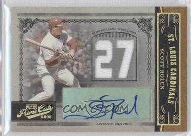 2005 Playoff Prime Cuts Materials Jersey Number Jerseys Autographs [Autographed] [Memorabilia] #58 - Scott Rolen /10