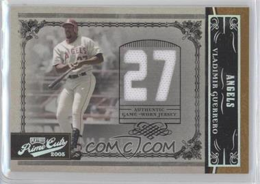 2005 Playoff Prime Cuts Materials Jersey Number Jerseys [Memorabilia] #1 - Vladimir Guerrero /50