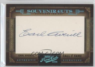 2005 Playoff Prime Cuts Souvenir Cuts #SC-14 - Earl Averill /47