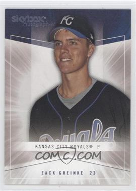 2005 Skybox Autographics [???] #93 - Zack Greinke /750
