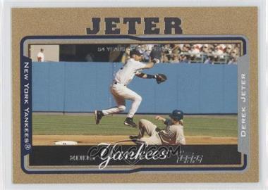2005 Topps - [Base] - Gold #600 - Derek Jeter /2005
