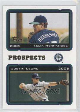 2005 Topps - [Base] #688 - Felix Hernandez, Justin Leone