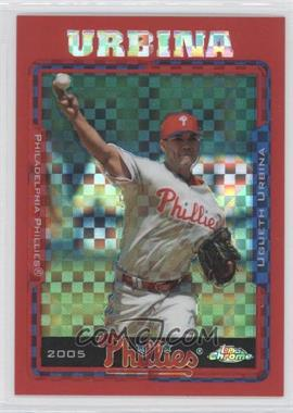 2005 Topps Chrome Update & Highlights - [Base] - Red X-Fractor #UH79 - Ugueth Urbina /65