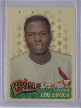 2005 Topps Pristine Legends - [Base] - Superfractor #9 - Lou Brock /1