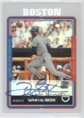 2005 Topps Retired Signature Edition Autographs Refractors #TA-DLB - Daryl Boston /25
