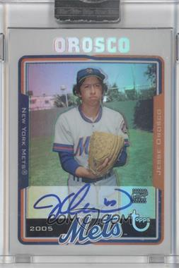 2005 Topps Retired Signature Edition Autographs Refractors #TA-JO - Jesse Orosco /25