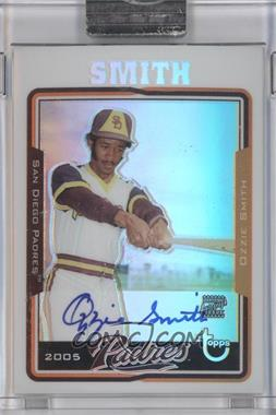 2005 Topps Retired Signature Edition Autographs Refractors #TA-OS - Ozzie Smith