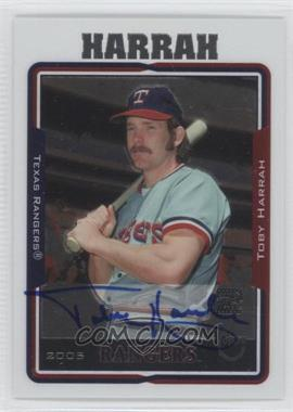 2005 Topps Retired Signature Edition Autographs #TA-TH - Toby Harrah