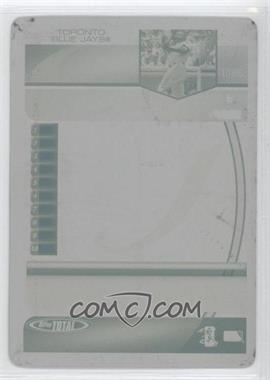 2005 Topps Total Printing Plate Yellow Back #180 - Vernon Wells /1