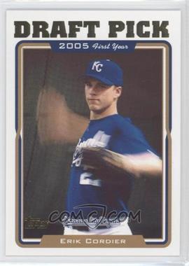 2005 Topps #675 - Erik Cordier