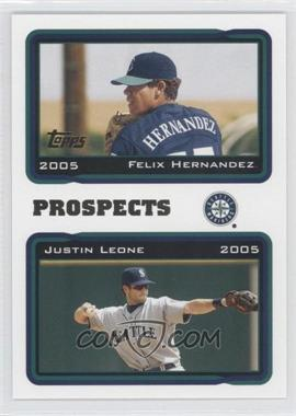 2005 Topps #688 - Felix Hernandez, Justin Leone