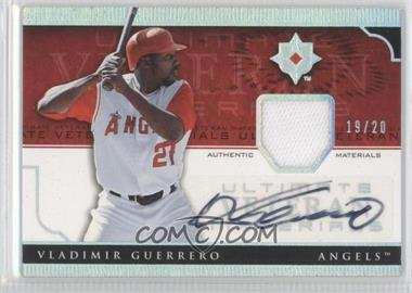 2005 Ultimate Collection [???] #UV-VG - Vladimir Guerrero /20