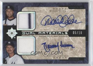 2005 Ultimate Collection Dual Materials Autograph [Autographed] #UD-DR - Derek Jeter, Randy Johnson /10