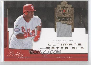 2005 Ultimate Collection Ultimate Materials #UG-BA - Bobby Abreu /25