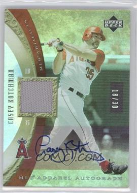 2005 Upper Deck Artifacts MLB Apparel Rainbow Autographs [Autographed] #MLB-CK - Casey Kotchman