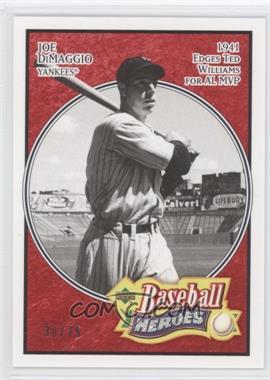 2005 Upper Deck Baseball Heroes - [Base] - Red #137 - Joe DiMaggio /75