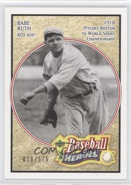 2005 Upper Deck Baseball Heroes - [Base] #101 - Babe Ruth