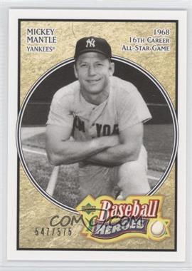 2005 Upper Deck Baseball Heroes - [Base] #161 - Mickey Mantle /575
