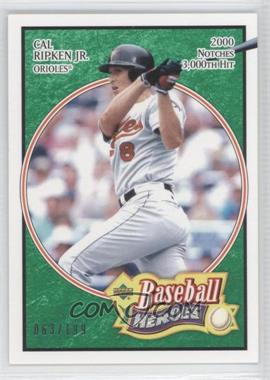 2005 Upper Deck Baseball Heroes Emerald #14 - Cal Ripken Jr. /199
