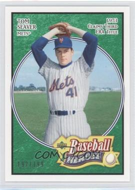 2005 Upper Deck Baseball Heroes Emerald #27 - Tom Seaver /199