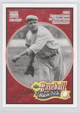 2005 Upper Deck Baseball Heroes Red #101 - Babe Ruth /75