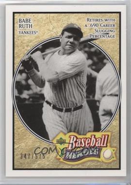 2005 Upper Deck Baseball Heroes #104 - Babe Ruth /575