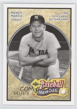 2005 Upper Deck Baseball Heroes #161 - Mickey Mantle /575