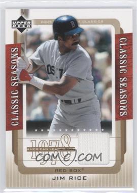 2005 Upper Deck Classics [???] #CS-JR - Jim Rice